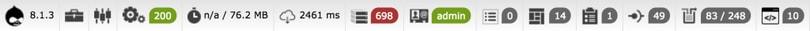 Webprofiler bar in Drupal 8