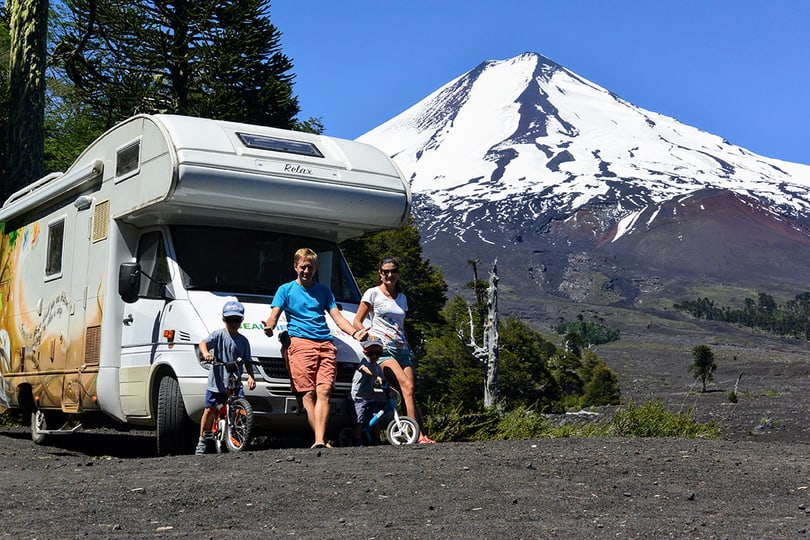 Camping car and family