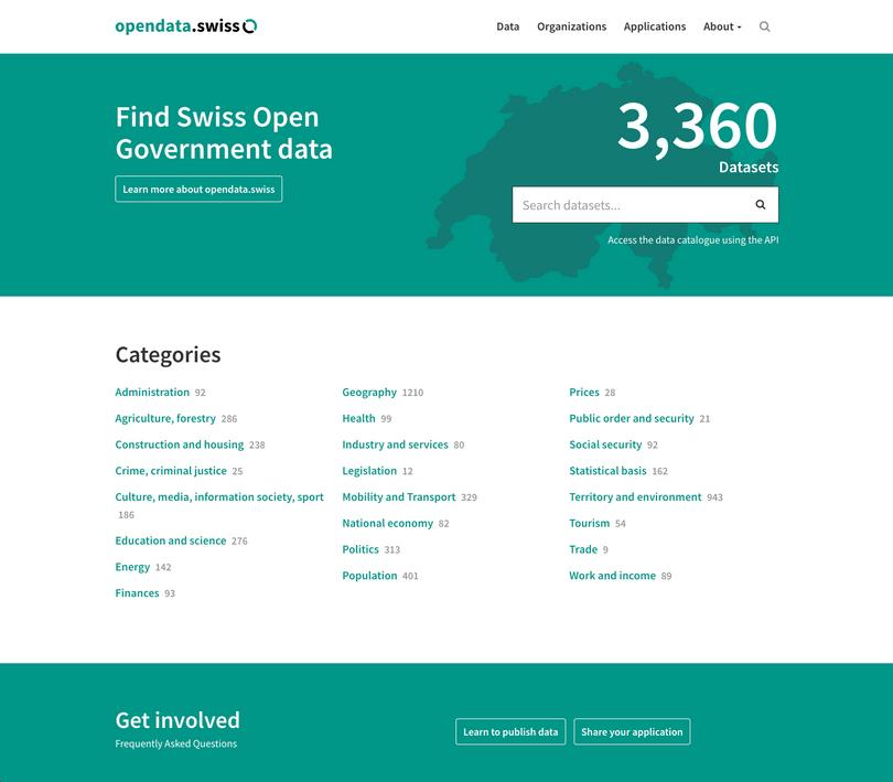 Open Data auf opendata.swiss