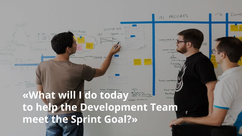 What will I do today to help the Development Team to meet the Sprint Goal?