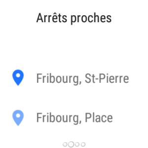Time for Coffee - Nearby stations on Android Wear
