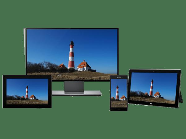 Responsive Bilder von einem Image Service