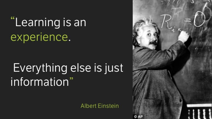 Learning is an Experience