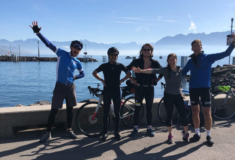 5 happy Liipers inLausanne Ouchy