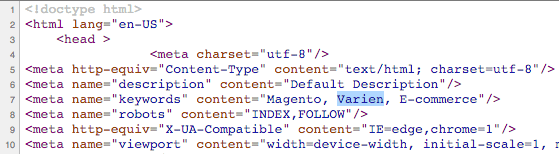 magento index page source code