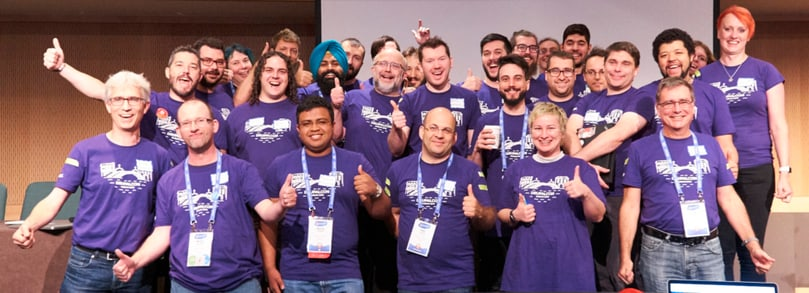 A group of Drupal mentors at DrupalCon 2016 in Dublin