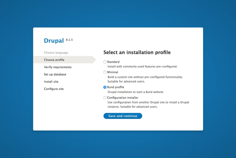 Chose a profile for the Drupal theme for the Swiss Confederation