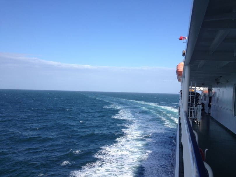 leaving Ireland on the ferry