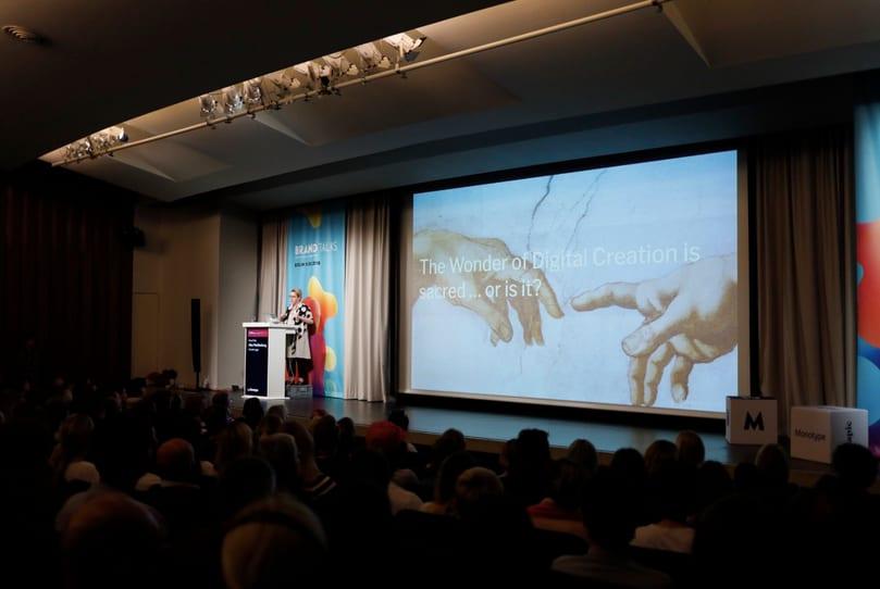 Brand Strategist Alex Mecklenburgat Typo Berlin 2018