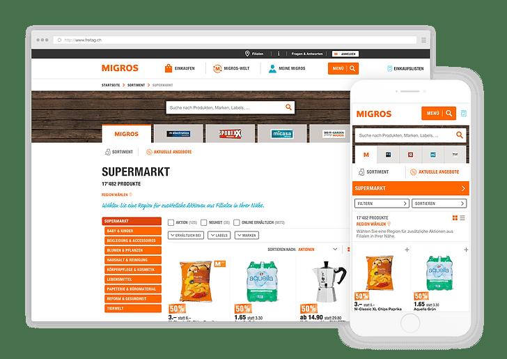 API und Produktsuche für den Migros-Katalog