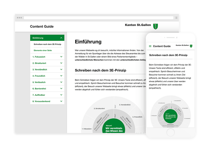 Content guidelines for the canton of St. Gallen