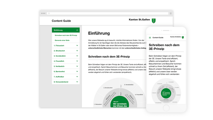 Digital content guidelines for the canton of St. Gallen