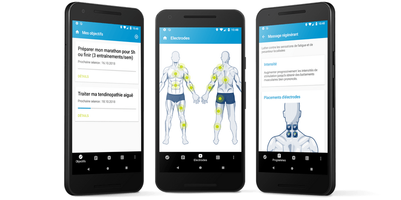 Features of the Compex Coach app