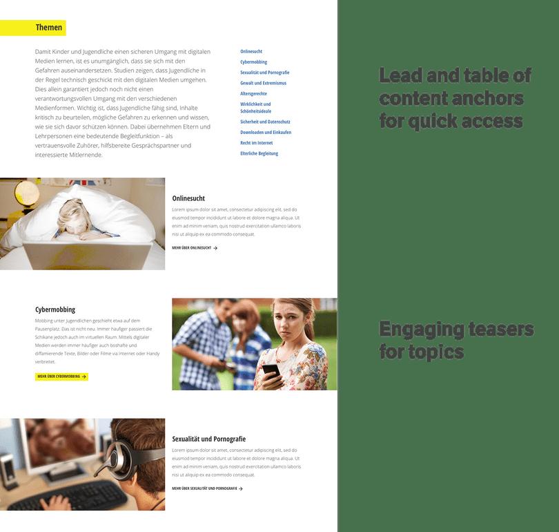 Themen new website