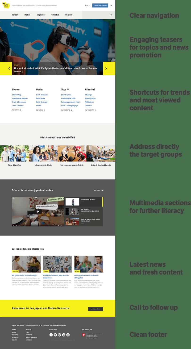 Homepage new website